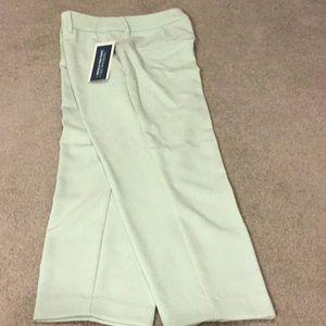 New pale green crop pants